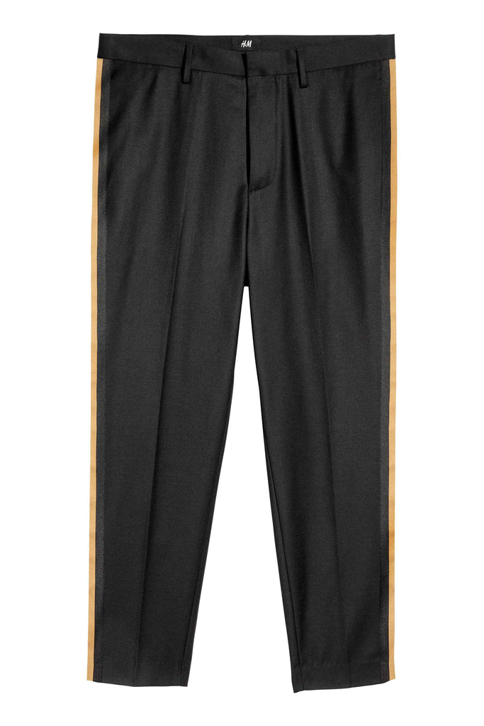 Suit trousers with stripes