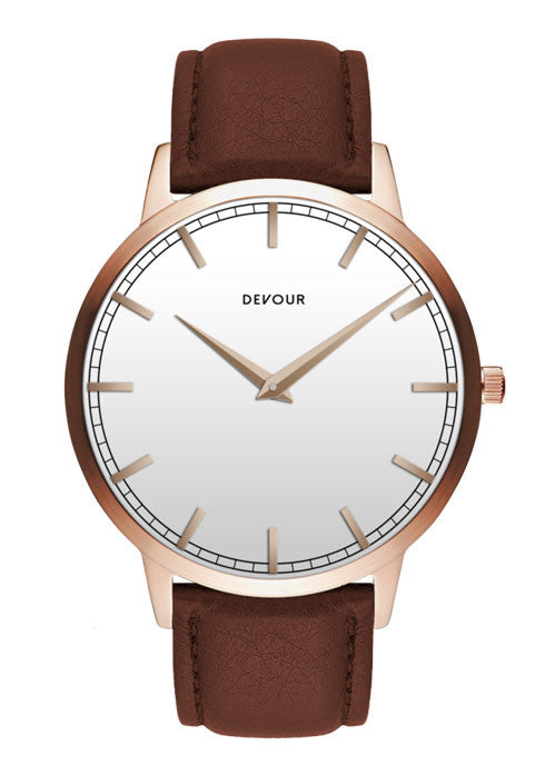 <i>The Classic</i> <br/> Rose Gold with White Dial
