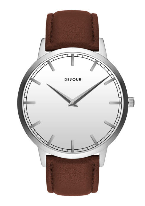 <i>The Classic</i> <br/> Stainless Steel with White Dial