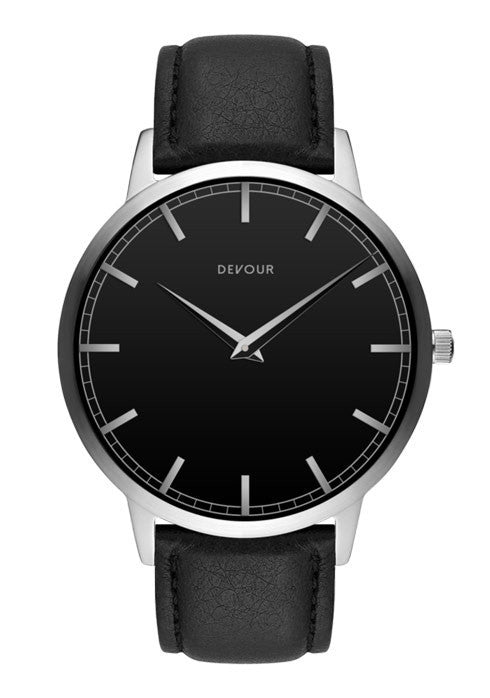 <i>The Classic</i> <br/> Stainless Steel with Black Dial