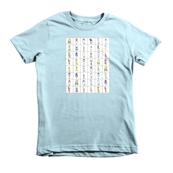 TypeFaces Alphabet | childrens t-shirt