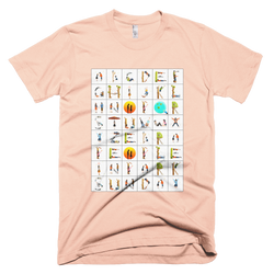 Alphabet in the Park | men's t-shirt