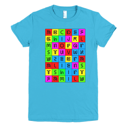 Alien Alphabet | women's t-shirt