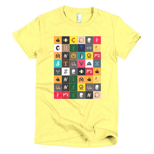 Animal Alphabet | women's t-shirt