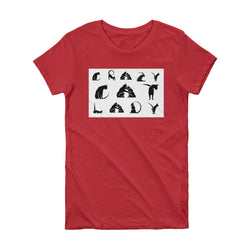 Cat Alphabet | Crazy Cat Lady | Short Sleeve Women's T-shirt