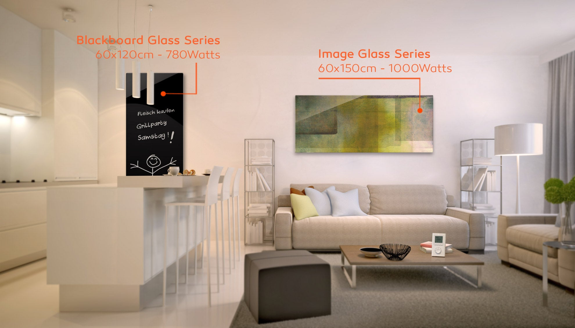Infrared Heating Panels by Welltherm. Is it blackboard or customised image this time