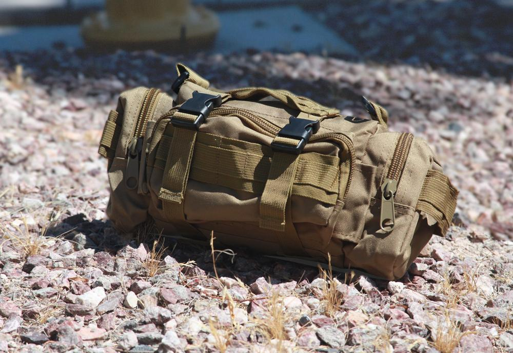 MULTI FUNCTION MILITARY STYLE CANVASS TRAVEL BAG BEIGE CAMO