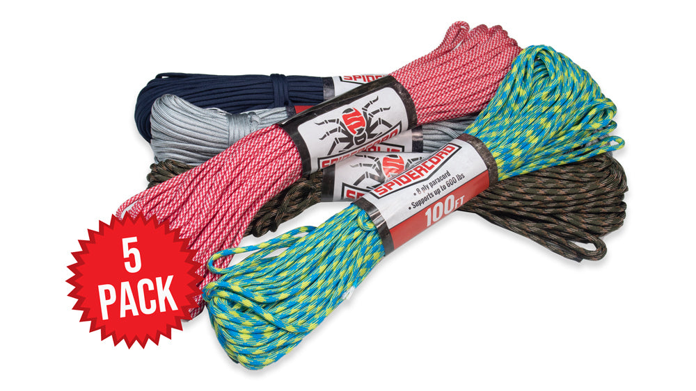 5 PACK SPIDERCORD BUNDLE