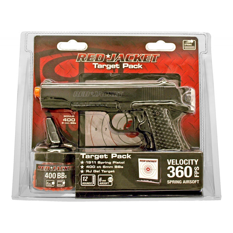RED JACKET 1911 AIRSOFT HANDGUN KIT - BLACK-Uncle Judds