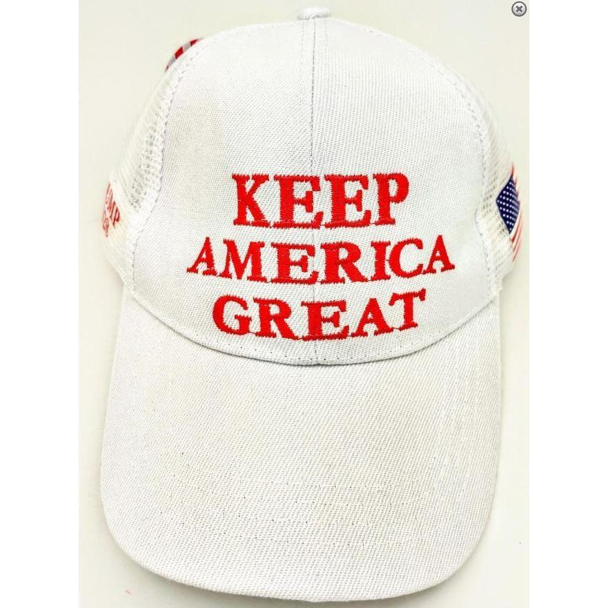Keep America Great White Hat-Uncle Judds
