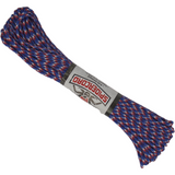 Spider Cord 600 Lb Paracord 100 Ft - Red, White And Blue Design