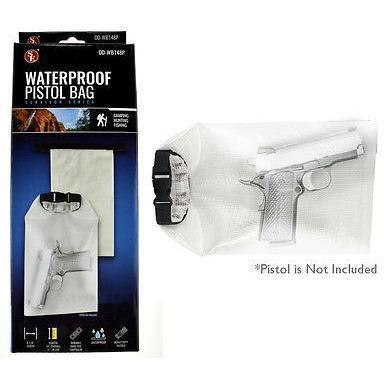 "Waterproof Pistol bag /500D/PVC Tarpaulin/ Clear (14"" x 8 1/4"")-Uncle Judds"