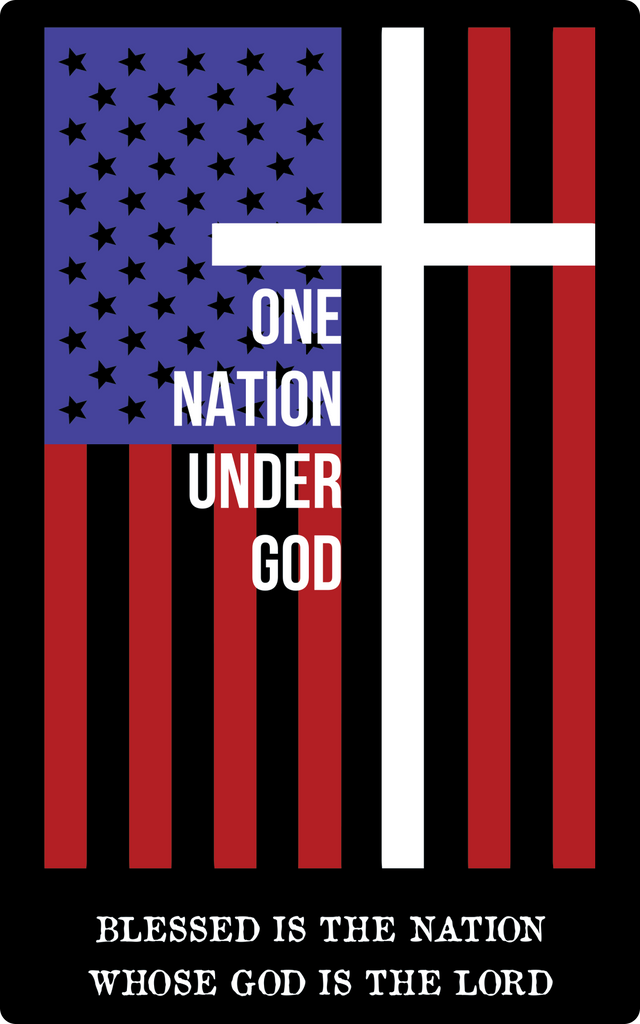 One Nation Under God Sticker-Uncle Judds