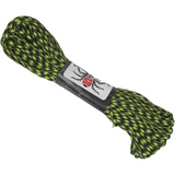 Spider Cord 600 Lb Paracord 100 Ft - Lime Green And Black Design