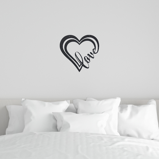 """Simply Love"" Metal Wall Art"