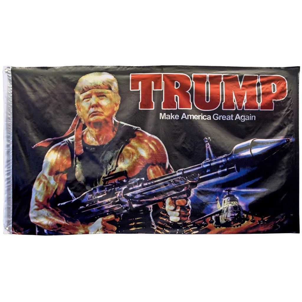 Trump Rambo - Make America Great 3'x5' Flag-Uncle Judds