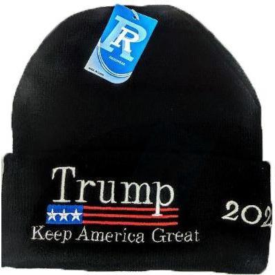 Trump 2020 Black Beanie-Uncle Judds