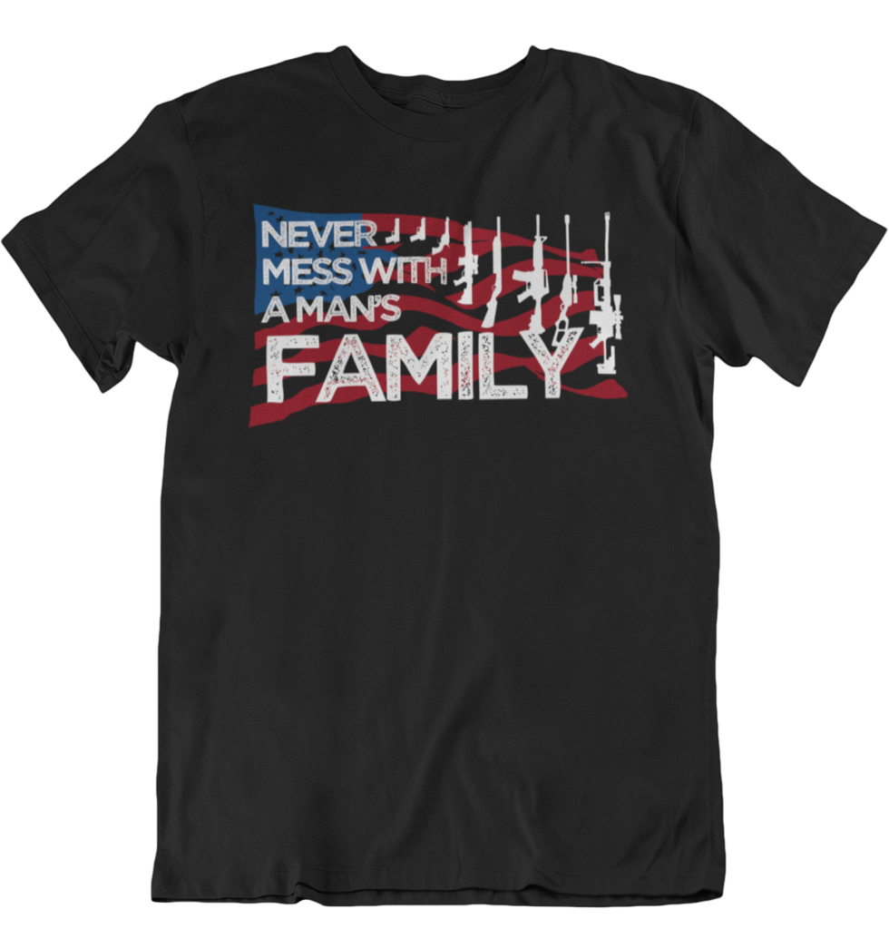 Never Mess With A Man's Family T- Shirts-Uncle Judds
