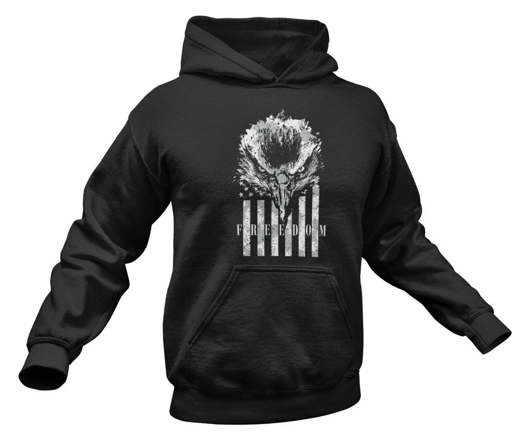 Freedom Eagle Hoodie-Uncle Judds
