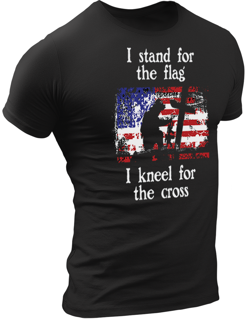 Stand for the Flag, Kneel for the Cross T-Shirt-Uncle Judds