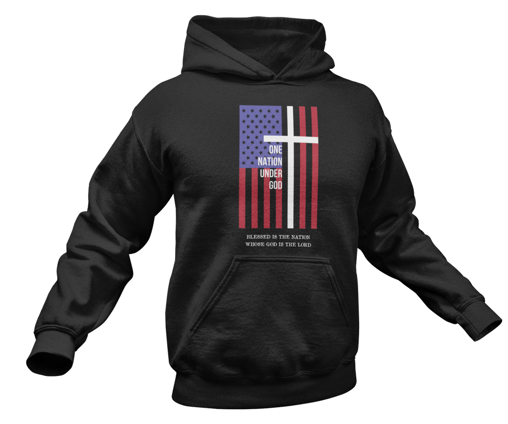 One Nation Under God Hoodie-Uncle Judds