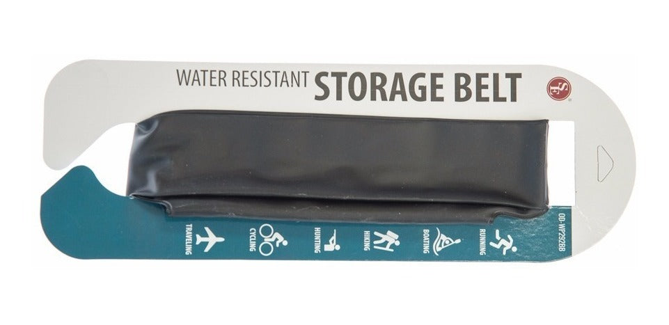 "Waterproof Storage Waist Belt 11"" x 2"" x 2"" Gusset-Black"