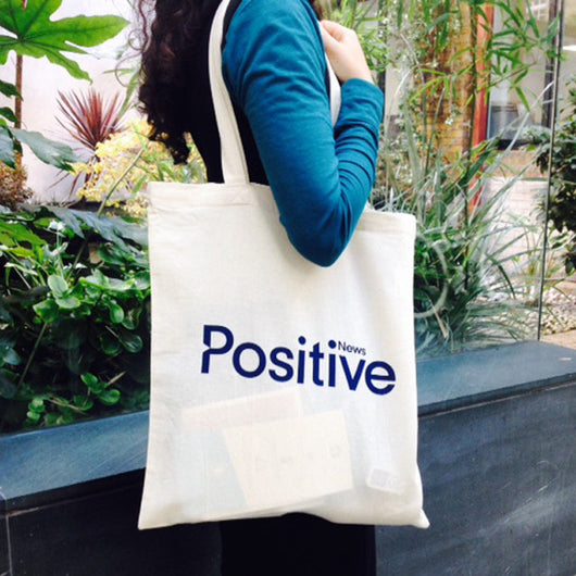 Positive News tote bag