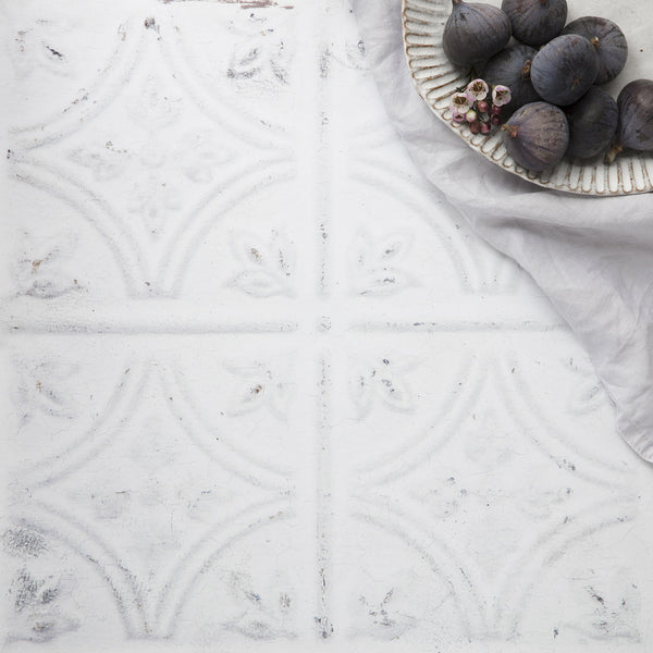 'Patisserie' White tin tile effect 40cm Photography Backdrop
