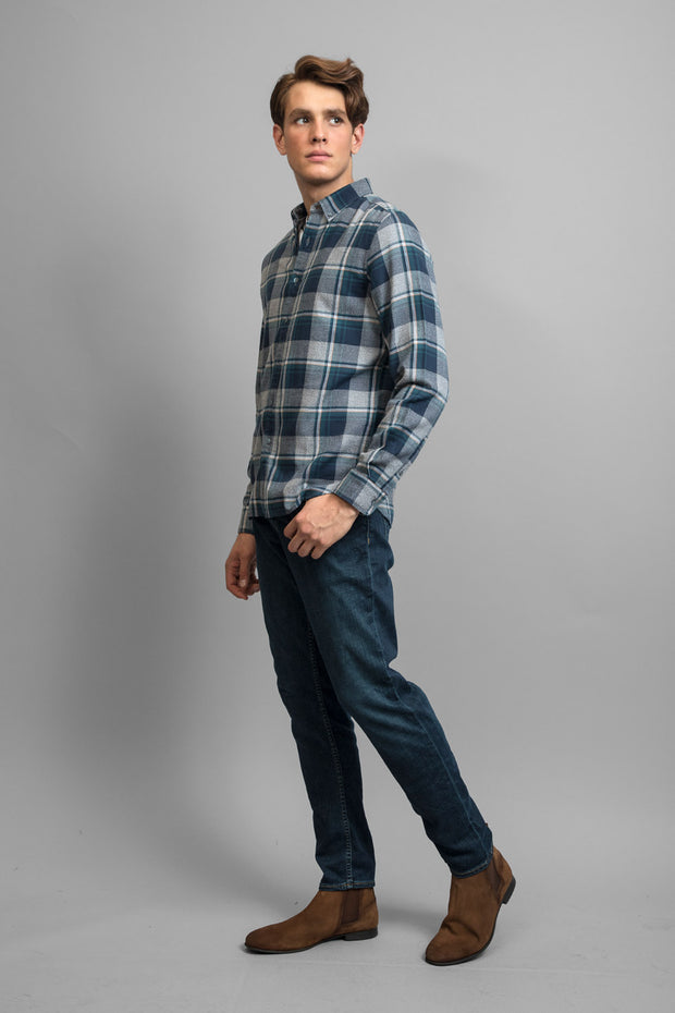 Navy & Green Flannel