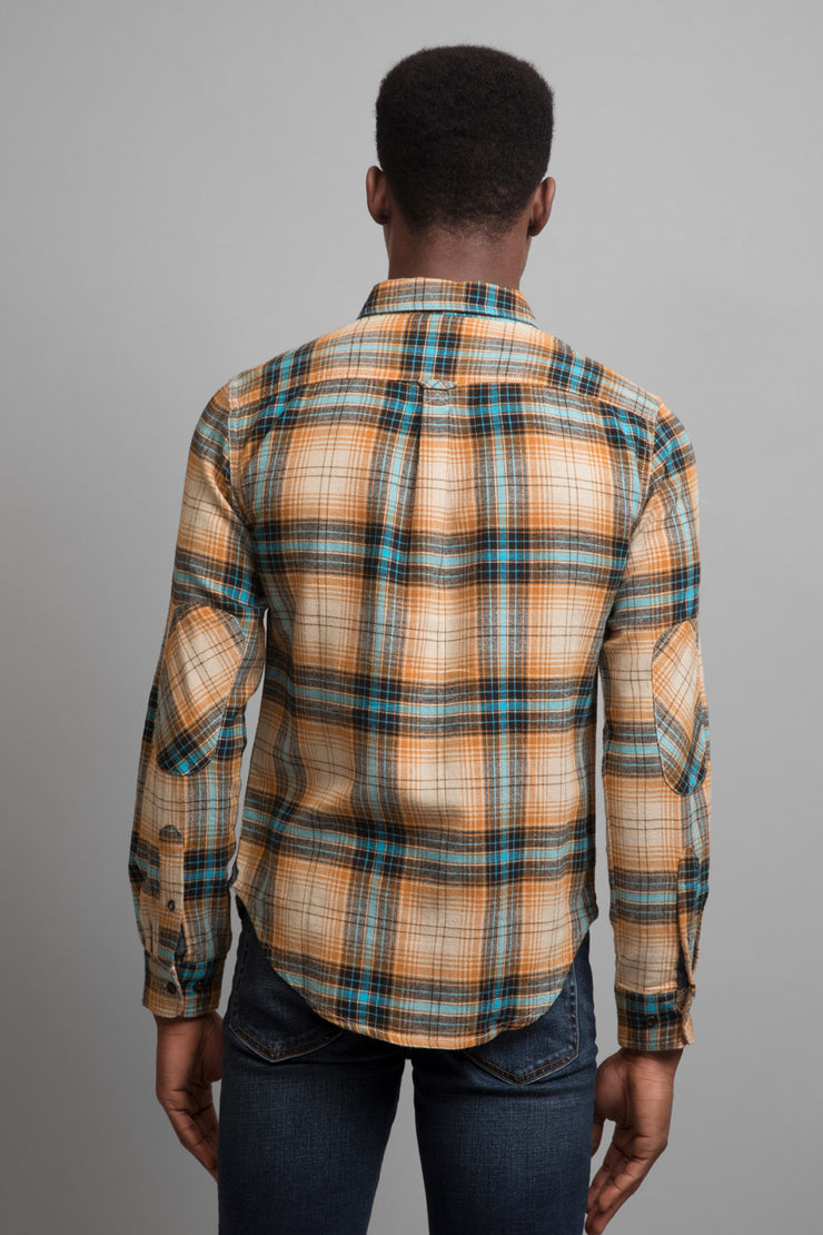Teal & Yellow Flannel