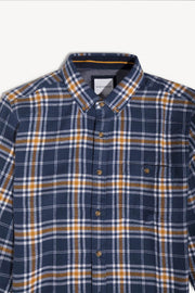 Blue & Yellow Flannel Shirt