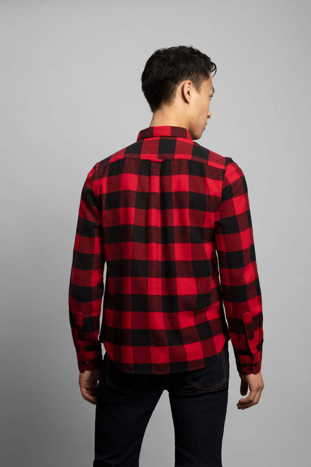Black & Red Adventure Flannel