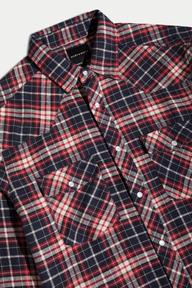 Red & Royal Blue Flannel Shirt