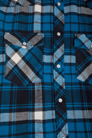 Blue Plaid Flannel Shirt
