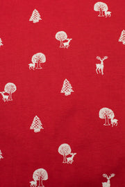 Red Holiday Tree Print T-Shirt