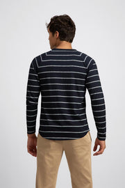 Lightweight White Striped Long Sleeve Tee