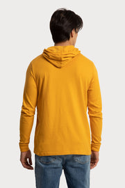 Orange Jersey Hooded T-Shirt