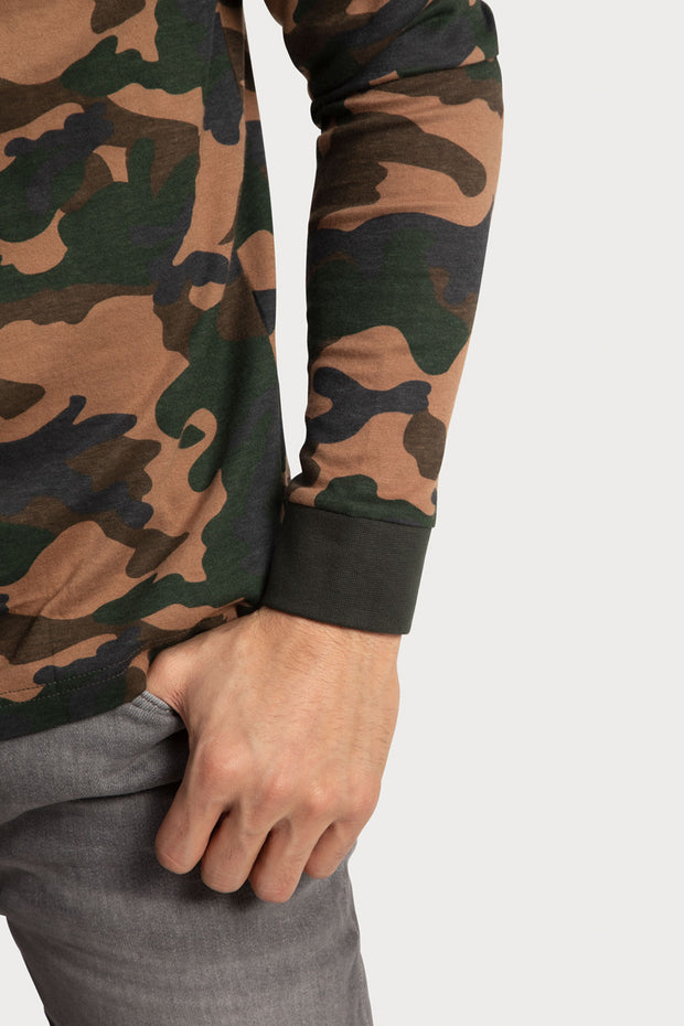 Camo Jersey Hooded T-Shirt