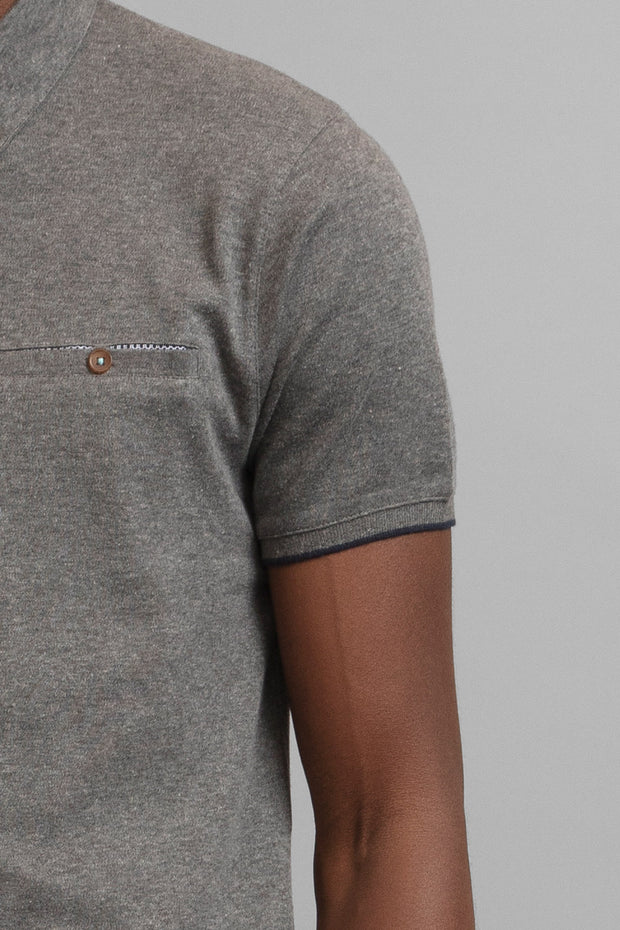 Textured Jersey Polo Shirt