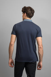 Navy Welt Pocket Polo