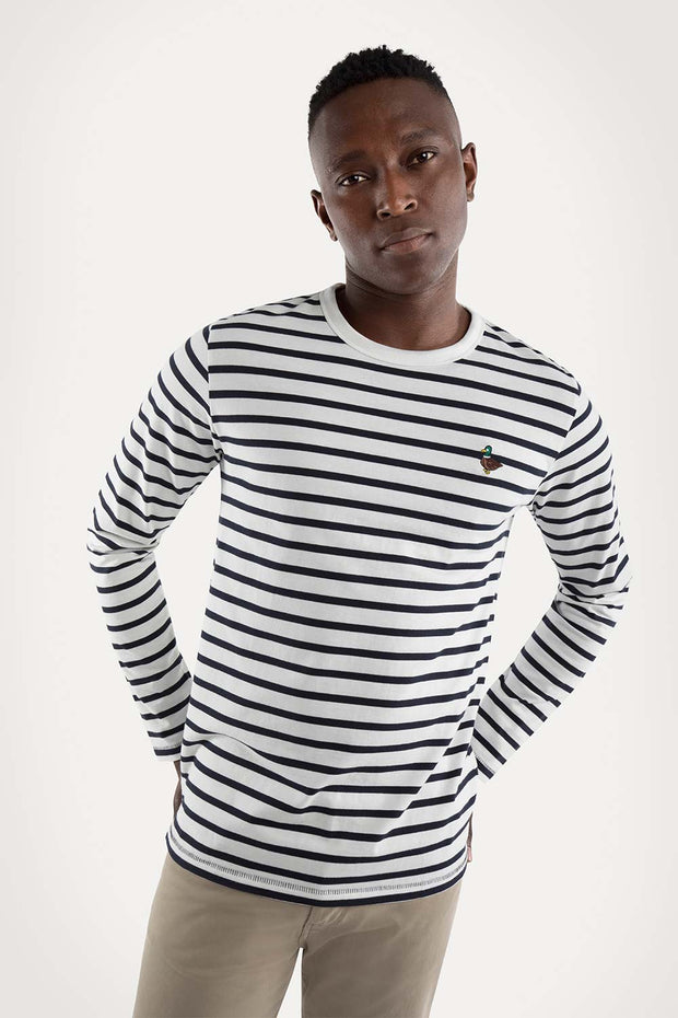 White & Black Striped T-Shirt