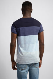 Navy Color Block T-Shirt