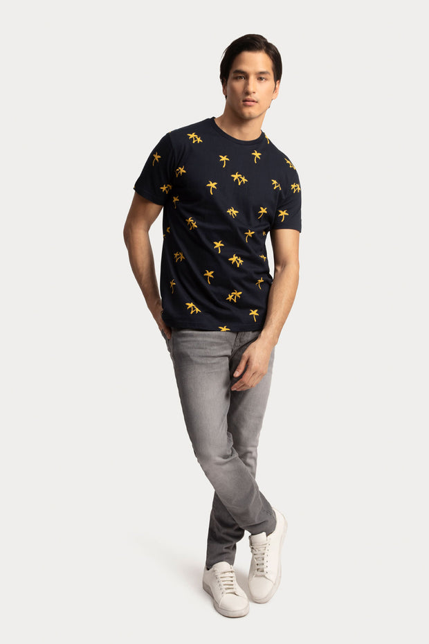 Navy & Yellow T-Shirt
