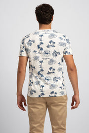 Navy & White Island T-Shirt