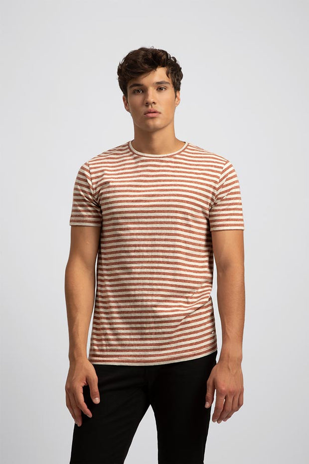 Maroon Striped T-Shirt