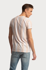 Light Pink Striped T-Shirt