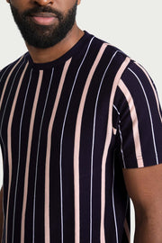 Black/Pink Vertical Stripe T-Shirt
