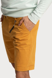 Mustard Cotton Twill Shorts