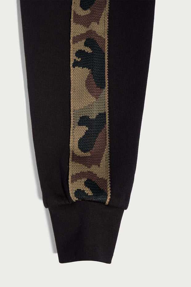 Black Fleece Camo Hooded Pullover