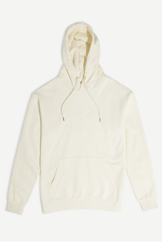 Cream Hooded Pullover